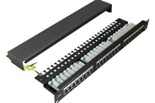 PULSAR patch panel για rack RP-F24V6, 24-port, FTP Cat 6, 1U